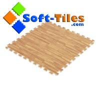 China Soft Wood Grain Foam Floor Mat on sale