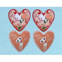 China Heart Shape Notebook Self Adhesive Sticker With Cartoon Patterns wholesale