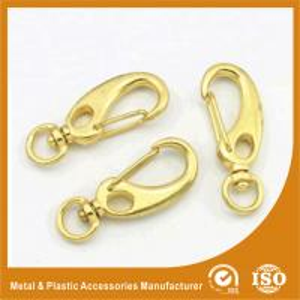 Best Gold / Silver Plated Zinc Alloy Snap Hooks Handbag Hardware Accessory wholesale