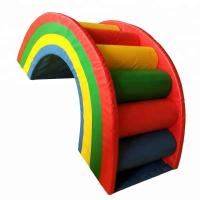 Best Rainbow Style Indoor Soft Play Equipment , Colorful Commercial Play Equipment wholesale