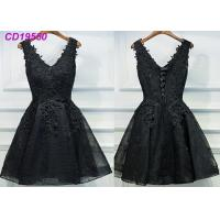 Best Homecoming Black Lace Cocktail Dress / Beach Sleeveless Short Cocktail Dresses wholesale