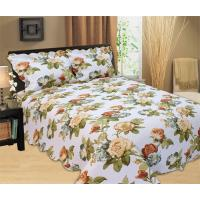 Best Microfiber Printed Queen Size Bed Quilts , Optional Colors Bed Cover Sets wholesale