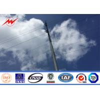 China 25m Galvanized Electric Power Transmission Steel Pole / Steel Tubular Pole on sale