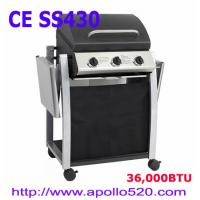 China High Quality BBQ Grill Cart 3burners on sale