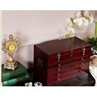 Dark Wood Jewelry Storage Containers For Women Bracelet / Earring / Ring