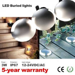 Best Mini 3W Led single dual sanko port Underground Light IP67 Deck Lights Floor Patio Lights Outdoor Landscape Lighting wholesale