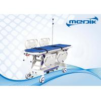 China Height Adjustable Luxury Patient Transportation Trolley With 4 Pcs PP Siderail on sale