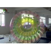 Best Custom Rainbow Inflatable Water Toy / Roller PVC / TPU 2.4m x 2.8m Heat Sealed wholesale