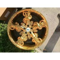 Best 20 Inch Custom Forged Wheels One Piece Structure with Five Dragons Twining on Spokes Golden and Silver Painted wholesale