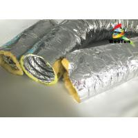 Buy cheap High Temperature HVAC 14 Inch Flex Heating Duct Insulation Wrap Single Layer from wholesalers