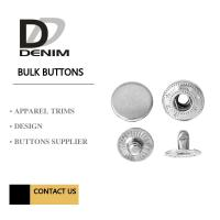 Best Silver Metal Snap Buttons Nickel - Free Embossed Logo For Brand Clothing wholesale