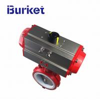Best 0-1.6/2.5mpa pressure Chinese manufacturers pneumatic butterfly valve flange type wholesale