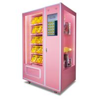 China Automatic Soft Drink Vending Machine , 24 Hours Pink Sweet Commercial Vending Machine on sale