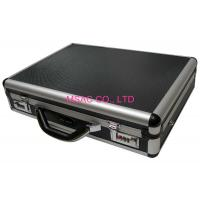 China Black Aluminum Attache Case 460 X 330 X 150mm One Lock For Security Easy Cleaning on sale