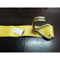 China Yellow Heavy Duty Tie Straps , Truck Tie Down Ratchet Straps With Container Buckle on sale