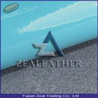 Best Patent PU Synthetic Leather with Woven Backing for Shoe and Bag wholesale