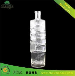 Best High-end Embossing Glass Bottle for Vodka,liquor,etc wholesale
