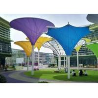 Best Colorful Tensile Fabric Structures , Roof Shade Structures For Park Shade Metal Frame wholesale