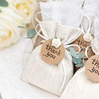 Muslin Canvas Cotton Drawstring Gift Bags for Wedding Party Favor