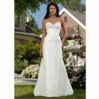 Best Lace Bridal/Wedding Gown, Spaghetti Strap Style, with Satin Fabric wholesale