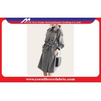 Best Fashion Autumn Ladies Long Trench Jacket With Gray Latticed Pattern wholesale