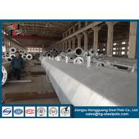 China Double Circuit Suspension Steel Electrical Transmission Poles Yield Strength 235 Mpa on sale