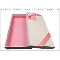 China Rectangle Presentation Gift packing Box with luxury tying ribbons on sale