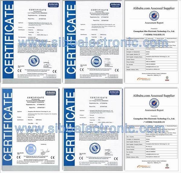 certificates of sibo animal rides