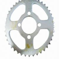 China High-precision Chain Sprocket for Motorcycles, Made of Steel Material on sale