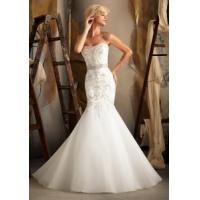 China China Wedding Dress / 2014 Mermaid Organza Embroidery Wedding Bridal Dress on sale