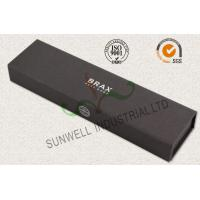 China Luxury Black Color Office Paper Box , Spot UV Coating Cardboard Packing Box on sale