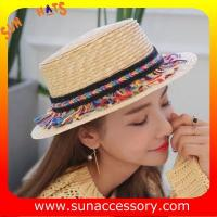 Best AK16823 ladis boater hats summer hats , promotion hats and cap for sale wholesale