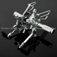 China Aluminum Silver / Black Motorcycle Rear Sets , Custom Motorcycle Foot Pegs on sale