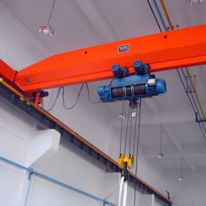 China Power Driven Single Girder Overhead Crane Polyurethane Materials Buffer on sale
