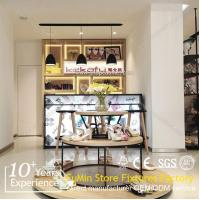 Best Wooden display counter and showcase and cabinet for shoes and bags wholesale
