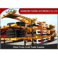 Best 40 Feet Flatbed Skeleton Shipping Container Trailer Mechanical / Air Suspension wholesale
