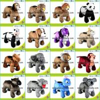 Cheap Sibo Coin Operated Walking Animal Motorized Plush Riding Animals In China for sale