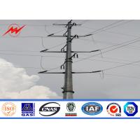 Best 30FT 35FT Galvanized Steel Pole Steel Transmission Poles For Philippines Electrical Line wholesale