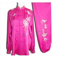 Best the latest and fine women wushu uniform with peony wholesale