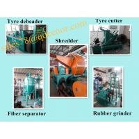 China Scrap Rubber Tire Recycling Line/Used Tyre Recycling Equipment Price on sale