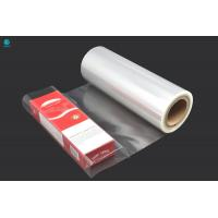 China 360mm Jumbo Glossy Clear Heat Sealing BOPP Film Roll For Cigarette Box Packaging on sale
