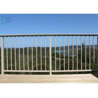 China Finished Surface Aluminium Balustrade / Fixed Outdoor Stair Railing on sale