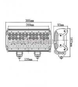 Best 144 Watt 12 Inch Quad-Row LED Light Bar for 4WD Vehicles wholesale