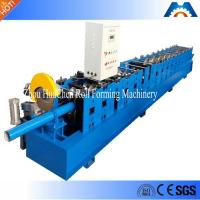 China Rainspout Downspout Roll Forming Machine Fly Saw Cutting 100mm Or Customized Diameter on sale