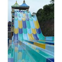 Cheap 6mm Fiber Glass Water Slide Games For Water Amusement Park / Holiday Resort for sale