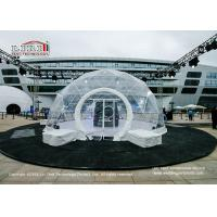 Best UV Resistant Transparent Geodesic Dome Tent , Outdoor Event Half Sphere Tent wholesale