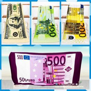 China 70x140cm cheap beach towels free shipping towel beach towel microfiber Money Euros Dollar on sale
