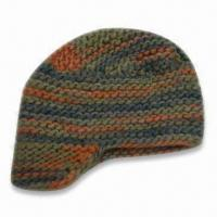 Best Fashionable Knitted Hat with Brim, Made of 100% Acrylic, Available in Various Colors wholesale