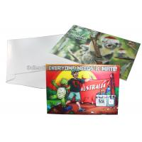 Buy cheap CMYK Merry Christmas Lenticular Printing Services Greeting Card Heat Resistant from wholesalers