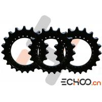China Steel SK210-8 Double Roller Chain Sprockets , Black Kobelco Excavator Parts on sale